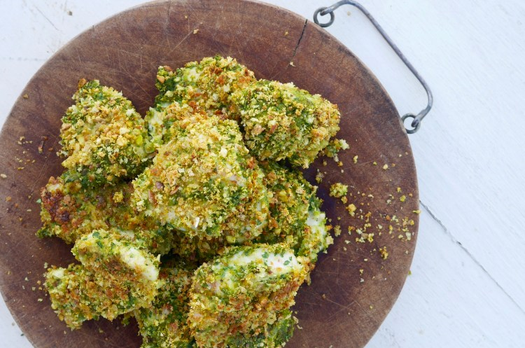 Spinach and Pistachio Chicken Nuggets
