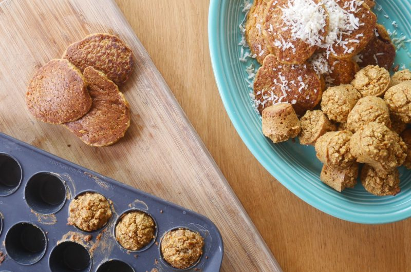 Carrot and Coconut Pancakes & Muffins